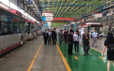 Visitando fábrica de buses eléctricos en Hunan, China