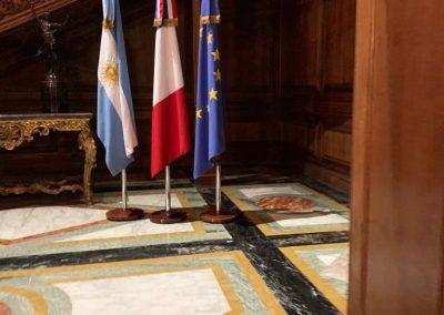En la Embajada de Francia afianzando lazos de amistad
