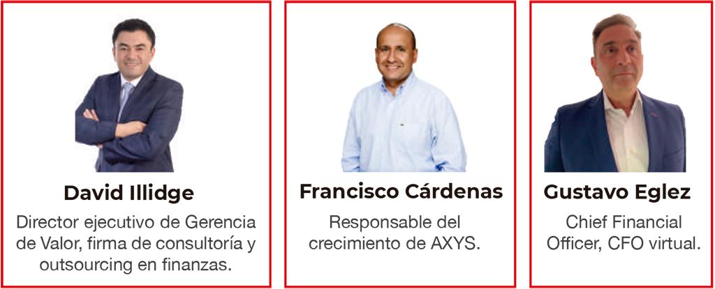 David Illidge, Francisco Cárdenas y Gustavo Eglez